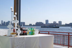 Bar set up by the hudson river