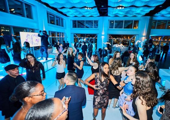 Guests dancing at Mitzvah