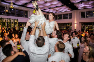 Bride tossed into the air