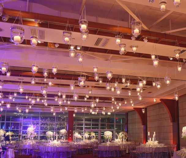 Pier 60 Wedding space with candles