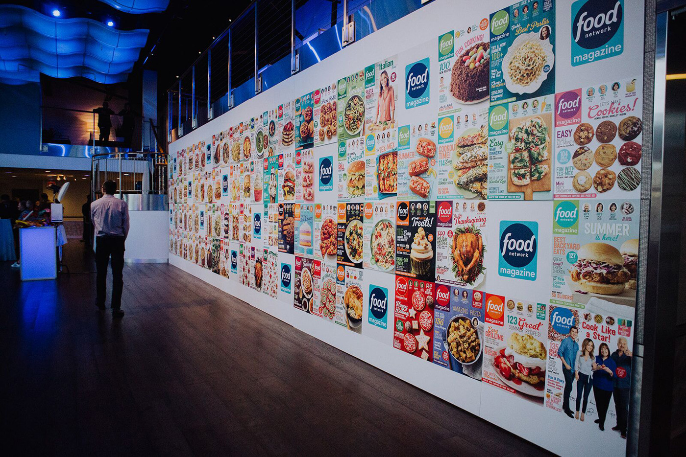Wall branded with food images