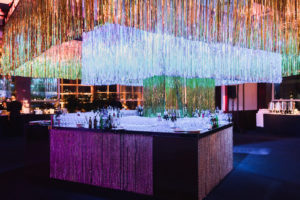 Giant tinsel decorative ceiling lighting