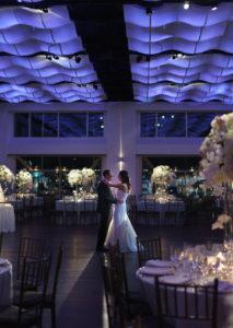 New couple dancing alone on dance floor