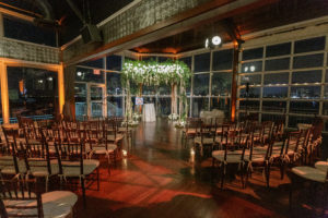 The Lighthouse set up for a ceremony with a chuppah up front