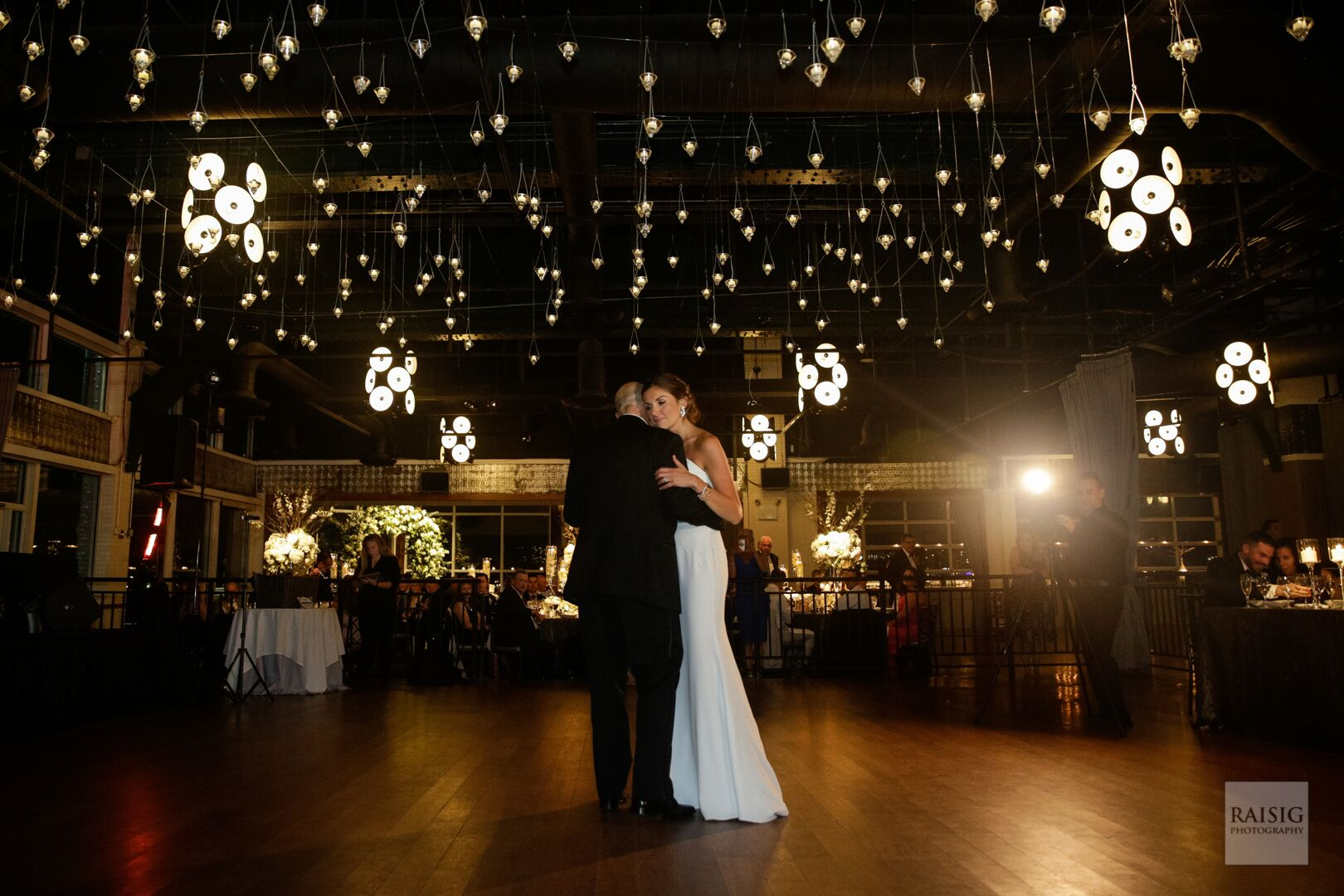 Bride and groom at their first dance