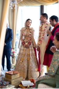 Bride and Groom in an Indian Ceremony
