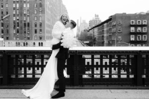Bride and Groom on The Highline