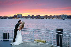 Bride at Groom at The Lighthouse Veranda