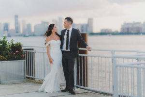 Bride and Groom at the lighthouse veranda