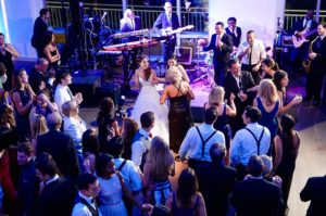 Bride dancing in the dance floor at Current