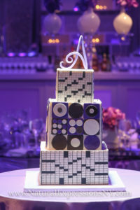 Groom's cake with a crosswords theme