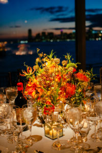 Colorful center piece on a table at the Lighthouse