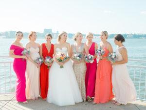 Bride and Bridesmaids at the Veranda