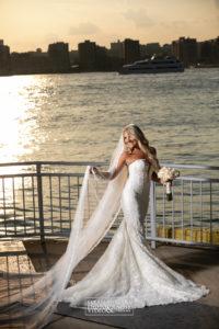 Bride in the Veranda during Sunset