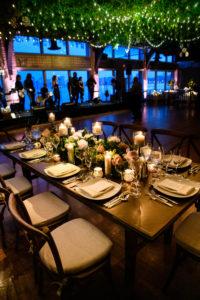 The Lighthouse set for a wedding dinner